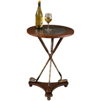 Round Brown Golf Accent Table