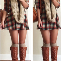 Flannel Fit and Flare Dress