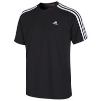 adidas Essentials 3S Crew Tee Shirt - Black