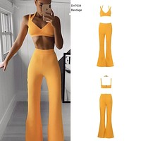 Yellow Bandage Pants Set