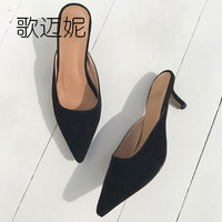 fetish high heels womens pumps women's summer low heel shoes woman shoes mules women designer dress shoes black thick heels