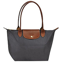 "Small tote bag L ( gun metal ) by longchamp paris "" LE PLIAGE"" 100% authentic original from PARIS FRANCE"