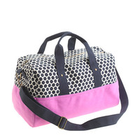 Girls' canvas overnight bag in dot - bags - Girl's Shop By Category - J.Crew