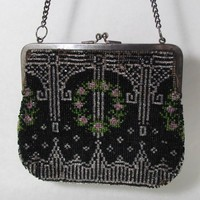 Vintage Art Deco Beaded Purse Needs Refurbishing by SellOriginals