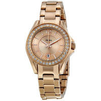 Fossil Women's ES2889 Mini 'Riley' Rosegold Glitz Watch   Overstock.com Shopping - The Best Deals on Fossil Women's Watches
