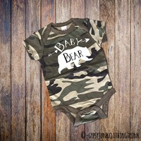 Camo Baby Outfit - Bear Top for Baby