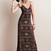Summerland Maxi Dress In Brown Moonshine By Novella Royale