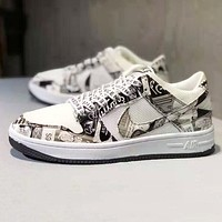 NIKE Air Force 1 Newest Fashion Women Men Casual Sport Shoes Sneakers Grey
