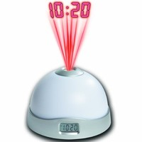 1 X Projection Alarm Clock with 7 Color Mood Changing Light