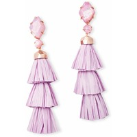 Kendra Scott: Denise Rose Gold Statement Earrings In Lilac Mother Of Pearl