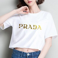 Prada Navel short sleeve T-shirt