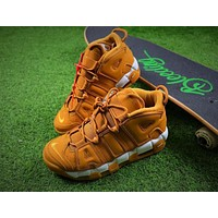 Nike Air More Uptempo QS Wheat / White Basketball Shoes Sneaker