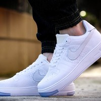 Originals Nike Air Force One 1 Flyknit Low White Running Sport Casual Shoes '07 817419-100 Sneakers
