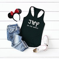 Joy to the World - Disney Christmas | Racerback Tank