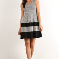Jacquard Babydoll Dress