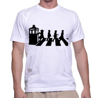 Doctor Who Funny Abbey Road T-shirt