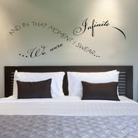 And in that moment I swear we were infinite Infinity love Vinyl Wall Decal Sticker Art