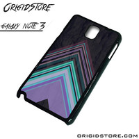 Chevron Purple Triangle Smooth Case For Samsung Galaxy Note 3 Case
