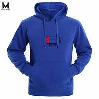 Hot 2017 Spring and Autumn Mens Long Sleeve Brand Battery Printing Hoodie Fashion With Hat hip Hop Sweatshirt Hoodies Men M-3XL
