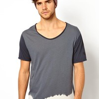 River Island T-Shirt with Dip Dye