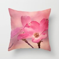 Colors of Spring: Pink Dogwood Throw Pillow by Legends Of Darkness Photography