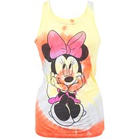 Minnie Mouse - Day Dreaming Tie-Dye Juniors Tank Top