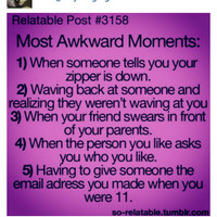 Awkward moments :D