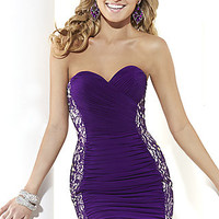 Short Strapless Sweetheart Homecoming Dress by Hannah S