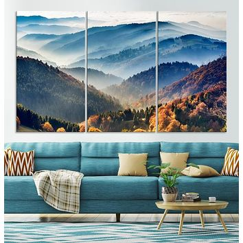 Large Forest Wall Art Landscape Canvas Print