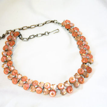 Vintage Necklace,  Fruit Salad Neccklace, Pink Necklace, 1950s Jewelry