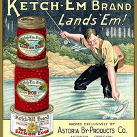 Ketch - Em Brand Salmon Eggs label poster