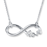 Infinity Necklace Sterling Silver