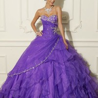 Ball Gown Beading Jacket Layered Ruffle Strapless Blue Violet Quinceanera Dresses Prom Gowns Ball Gown Beading Jacket Layered Ruffle Strapless Blue Violet Quinceanera Dresses Prom Gowns [RL-QD8014] - $220.00 : Roman Love Wholesale Custom Made Wedding Dress