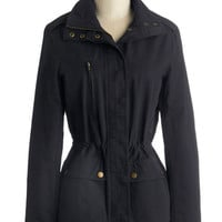 ModCloth Mid-length Long Sleeve Parkside Perfection Jacket