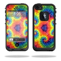 Mightyskins Protective Vinyl Skin Decal Cover for LifeProof iPhone 5/5s/SE Case fre Case wrap sticker skins Tie Dye 2