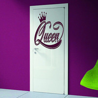 Princess girl queen Frame doors crown Room Stylish Wall Art Sticker Decal 8469