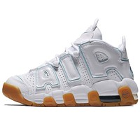 Nike Air More Uptempo new product stitching color men's and women's low-top sneakers casual shoes #3