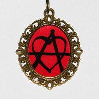 Anarchy Heart Pendant Necklace