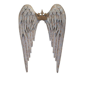 Large Metal Angel Wings Wall Decor