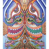 Sunshine Joy 3D Yes Yes Yes No No No Tapestry Hanging Wall Art Beach Wrap - Artwork By Chris Dyer - Amazing 3-D Effects (60X90 inches)