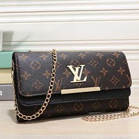 Louis Vuitton LV Women Shopping Leather Satchel Shoulder Bag Crossbody