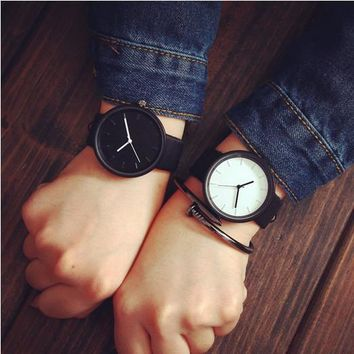 Awesome Designer's Gift Good Price Trendy New Arrival Great Deal Korean Stylish Fashion Simple Design Couple Casual Vintage Quartz Watch [8863743175]