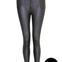 Taylor Shiny Jeggings In Silver