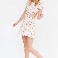 For Love & Lemons Cherry Cut-Out Tie Front Dress - Urban Outfitters
