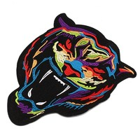 Embroidery  Rainbow  Tiger  Patch  Badge  Clothes  Fabri
