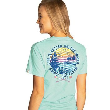 Simply Southern Preppy Better On The Water T-Shirt