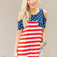 Americana Patriotic Tunic Top