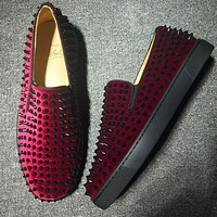 Cl Christian Louboutin Roller Boat Style #2092 Sneakers Fashion Shoes