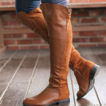 Over the Knee Tan Brown Boots