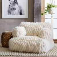 Winter Fox Faux-Fur Eco-Lounger